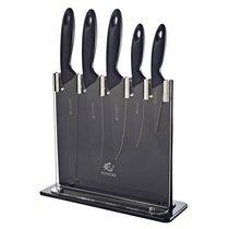 Набор из 5 ножей и подставки Silhouette чёрный - Viners