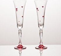 Набор Бокалов Для Шампанского Из 2 шт. Love 180 мл Высота 25 см - Crystalex