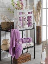 Комп. Пол. TWO DOLPHINS махр.в короб. (50x90/2)(70х140/1) 3 шт.ISABELLA, цвет лиловый - Meteor Textile
