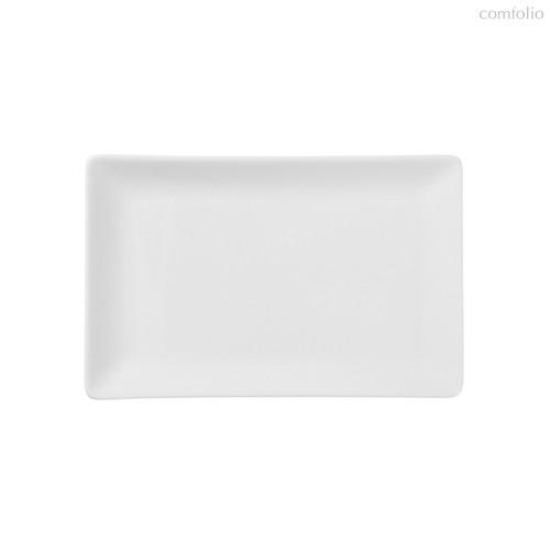 Тарелки прямоугольные 20x13 см, цвет белый - Top Art Studio