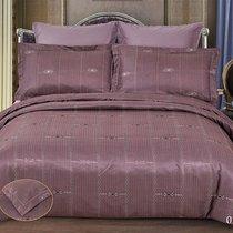 """КПБ Cleo """"Royal Jacquard"""" дуэт 150*215*2 230*250*1 50*70*2+5см 70*70*2 41/014-RG, цвет светло-фиолетовый, Дуэт - Cleo"""