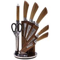 Набор Ножей Agness С Ножницами И Мусатом На Пластиковой Подставке, 8 Предметов - YANGJIANG EKA
