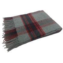 Плед BABILONA Grey/Red, цвет красный/серый, 130 x 170 - Italian Woollen Treasures