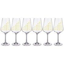 Набор бокалов для вина из 6 шт. SANDRA 450 мл ВЫСОТА=23,5 СМ - Crystalex