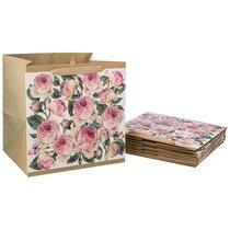 Комплект Бумажных Пакетов Из 10 Шт. Винтаж. Пионы 30x30x25 см - Vogue International