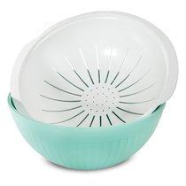 Набор: дуршлаг, чаша, крышка Nordic Ware (3,8л; 4,7л) - Nordic Ware