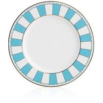 """Набор из 2 десертных тарелок 21см """"Карнавал"""" (голубая полоска) п/к, цвет голубой - Noritake"""