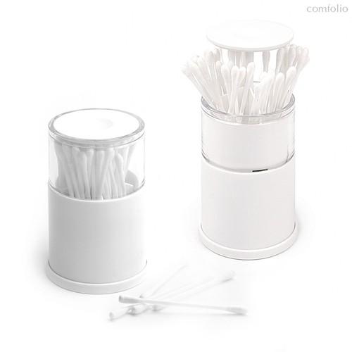 Контейнер для ватных палочек Pop-up, цвет белый - Balvi