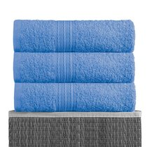 Голубая 150х210 Простыня Махровая BAYRAMALY, цвет голубой, 150x210 - Bayramaly