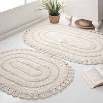 Набор кружевных ковриков Yana, цвет кремовый - Bilge Tekstil