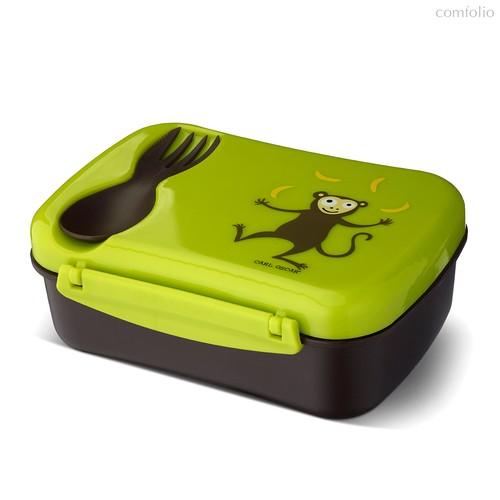 Ланч-бокс детский с охлаждающим элементом N'ice Box™ Monkey лайм, цвет лайм - Carl Oscar