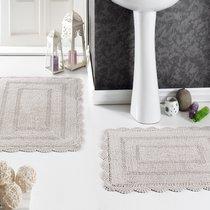 Набор кружевных ковриков Evora, цвет бежевый, 50x70 - Bilge Tekstil