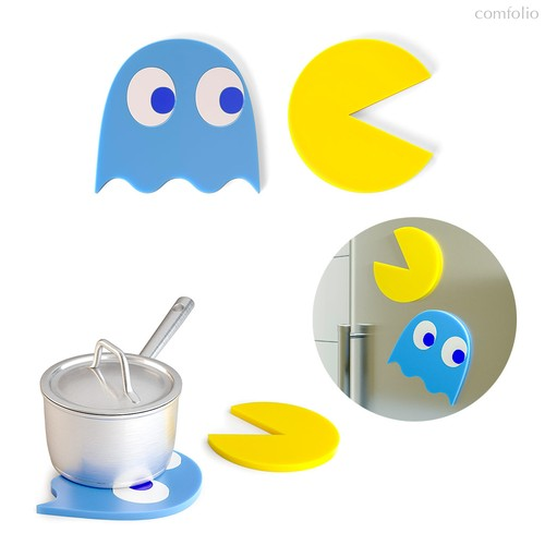 Подставка под горячее Pac-Man 2шт. магнитная, цвет разноцветный - Balvi