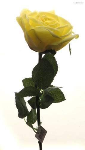 Роза Гран При ярко желтая 65 см живое прикосновение (24 шт.в упак.) - Top Art Studio