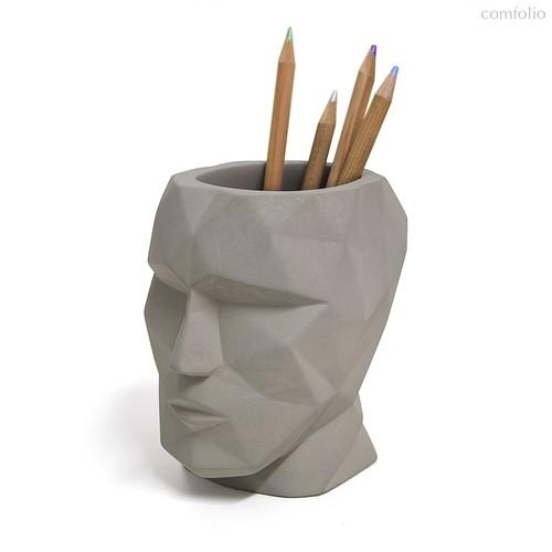 Подставка для канцелярских принадлежностей The Head серый, цвет серый - Balvi