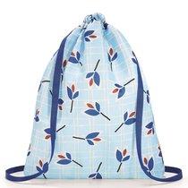 Рюкзак складной Mini maxi sacpack leaves blue - Reisenthel