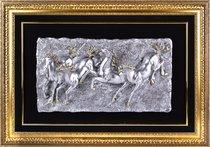 Панно Лошади Серебро 85*120 см - CFS