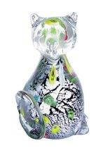 Фигурка Серебряный котенок 7*11,5 см - Art Glass