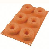 Форма для приготовления пончиков Donuts 18 х 33 см силиконовая - Silikomart