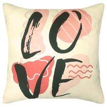 """Чехол для подушки """"Love"""", P02-7777/1, цвет розовый, 43x43 - Altali"""