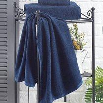 """Полотенце махровое """"KARNA"""" EFOR 420 гр (50х100) см 1/1, цвет синий, 50x100 - Bilge Tekstil"""