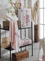 Комп. Пол. TWO DOLPHINS махр. в короб. (50x90/70х140) 2 шт.ISABELLA, цвет светло-розовый - Meteor Textile