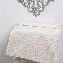 Полотенце махровое Karna Esra, цвет кремовый, размер 50x90 - Karna (Bilge Tekstil)