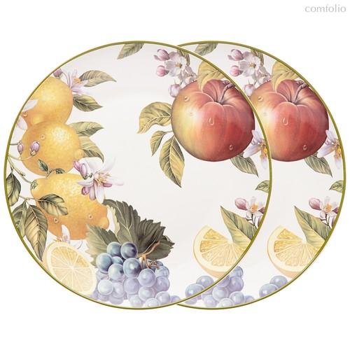 Набор Тарелок Закусочных Lefard Фрукты 2 Шт. 20,5 см - Meizhou Yuesenyuan