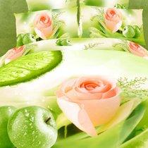 Комплект постельного белья RS-73, цвет салатовый, размер Евро - Famille
