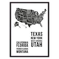 Карта Америки, 21x30 см - Dom Korleone