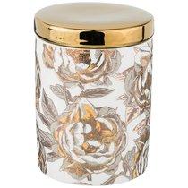 Банка Для Сыпучих Golden Rose 700 мл, Белая - Porcelain Manufacturing Factory