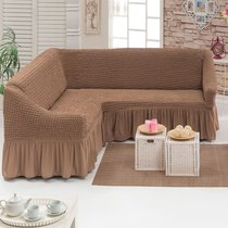 Чехол д/мягкой мебели Угловой (3 местный ) 1 пр. JUANNA, цвет коричневый - Meteor Textile