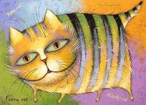 Подставки на пробке Счастливый кот 40х29 см(4шт) - Top Art Studio