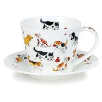 """Чашка чайная с блюдцем Dunoon """"Айлей.Глупые собаки"""" 350мл - Dunoon"""