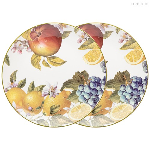 Набор Тарелок Обеденных Lefard Фрукты 2 Шт. 25,5 см - Meizhou Yuesenyuan