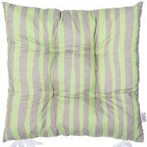 """Подушка на стул """"Olive fest"""", P505-8323/1, 41х41 см, цвет светло-серый, 41x41 см - Apolena"""