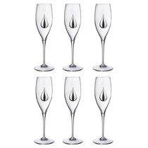 Набор Бокалов Для Шампанского Из 6 шт. 250 мл Высота 25 см - Cristalleria Acampora