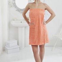 """Набор для сауны """"KARNA"""" женский махровый PERA 1/2, цвет оранжевый, 70x150 - Bilge Tekstil"""