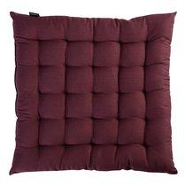 Подушка на стул бордового цвета из коллекции Wild, 40х40 см - Tkano