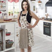Фартук кухонный Karna с салфеткой 30x50, цвет кофейный - Karna (Bilge Tekstil)