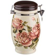 Емкость Для Сыпучих Продуктов Корейская Роза 1100 млВысота 20 см - Huachen Ceramics