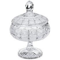 КОНФЕТНИЦА С КРЫШКОЙ НА НОЖКЕ 500PK ДИАМЕТР 16см ВЫСОТА 23см - Aurum-Crystal