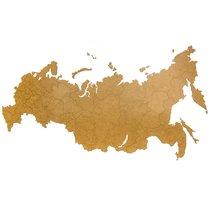 Карта-пазл Wall Decoration 'Российская Федерация, 98х53 см коричневая - Mimi