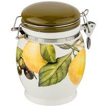 Емкость Для Сыпучих Продуктов Лемон Три 11,5x11,5 см Высота 15 см / 700 мл - Huachen Ceramics