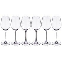 Набор бокалов для вина из 6 шт. COLUMBA 400 МЛ ВЫСОТА=23,5 СМ (КОР=1Набор.) - Crystalite Bohemia