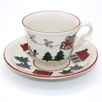 Пара чайная 200мл Рождественская деревенька - Mason's