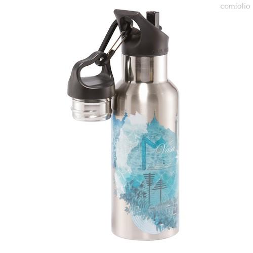 Термос-фляга Wisdom TEMPflask™ Water 0.5л, цвет бирюзовый - Carl Oscar