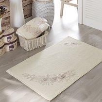 Французский кружевной коврик Romantic, махровый, цвет кремовый, размер 60x90 - Irya