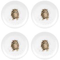 "Набор тарелок закусочных Royal Worcester ""Забавная фауна"",""Сова"" 20см, 4шт, костяной фарфор - Royal Worcester"