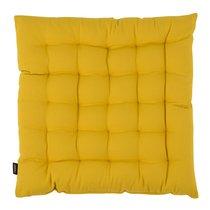 Подушка на стул из хлопка горчичного цвета из коллекции Prairie, 40х40 см - Tkano